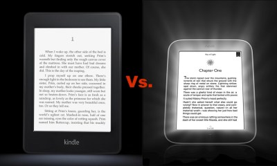 Kindle Paperwhite vs. Nook Simple Touch with Glowlight