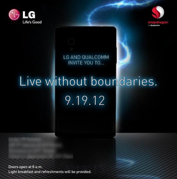 LG September 19 invitation