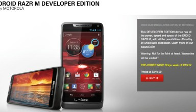 Motorola Droid RAZR M Developer Edition