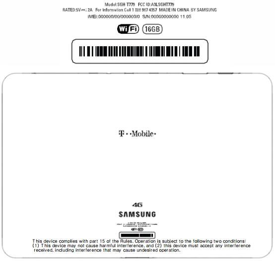 Samsung-SGH-T779-FCC-T-Mobile-Galaxy-Tab-2-101-4G