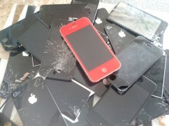 Shattered iPhone Screens