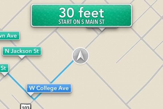 iOS 6 Maps Navigation