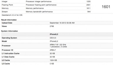 iPhone 5 GeekBench test