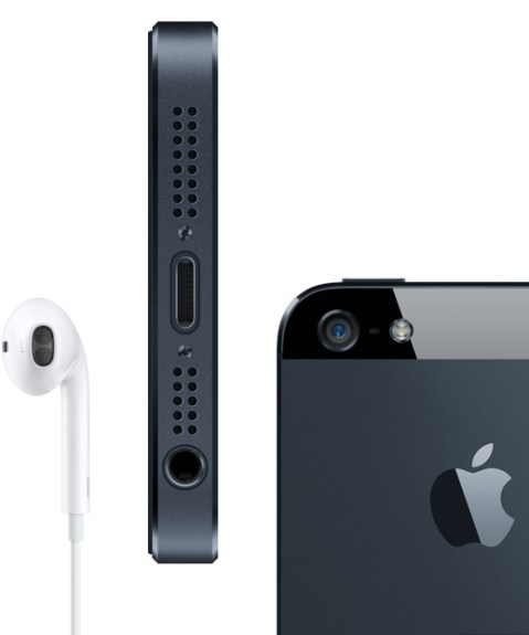 iPhone 5 back and headphones