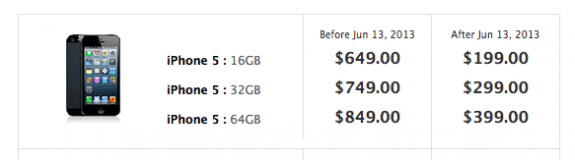 iPhone 5 preorder price