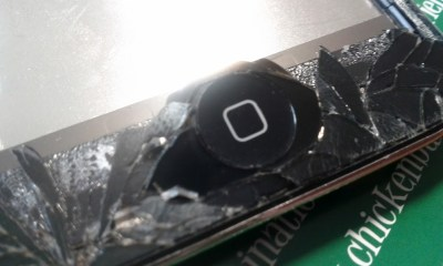 iPhone repair shattered display
