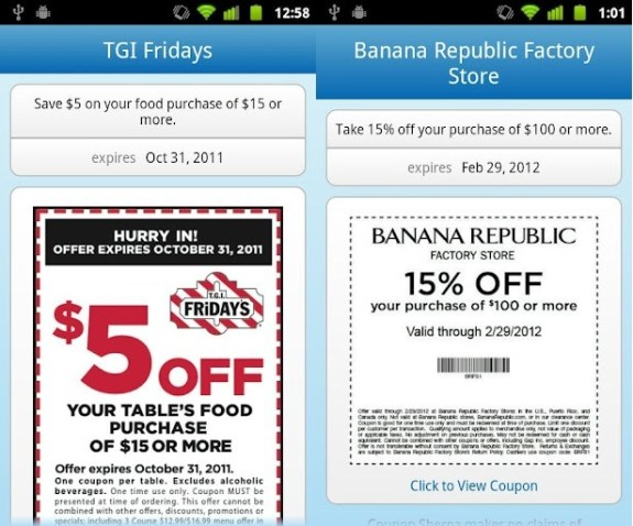 Android Passbook alternative - mobile coupons