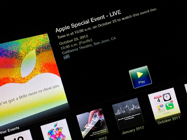 Apple Live Event on Apple TV