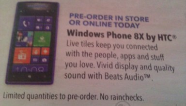 Best Buy ad Windows Phone 8X