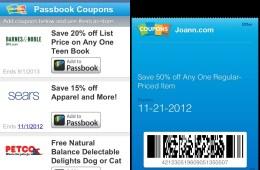 Passbook coupons
