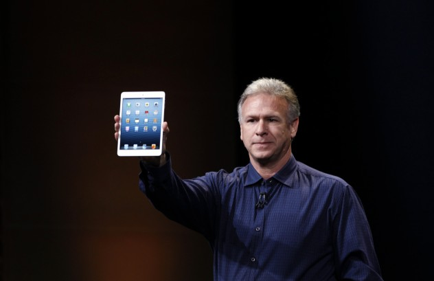 Apple senior vice president of worldwide marketing Philip Schiller introduces the new iPad mini during an Apple event in San Jose