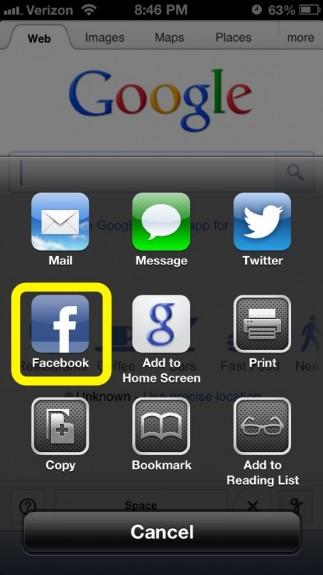 Facebook Link Share