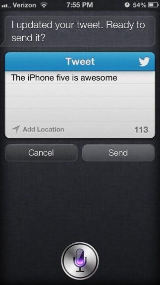Siri Tweet