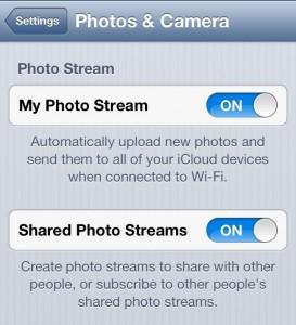 Photo Stream Set up iPhone