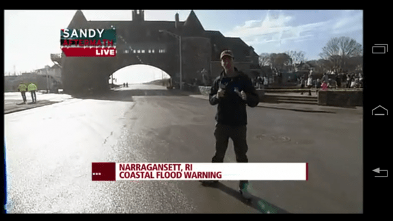SuperStorm Sandy Live Video