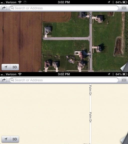 apple maps error - missing street
