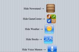 hide iphone apps