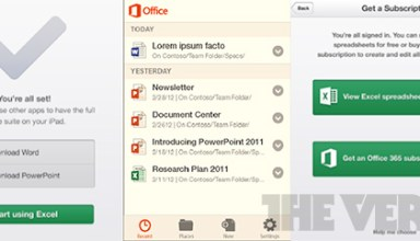 Microsoft Office Mobile for iPhone