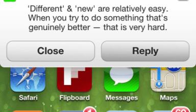 iOS 7 notiication mock up