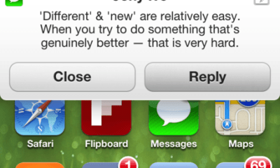 iOS 7 notiication mock up