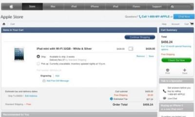 iPad mini reservation apple