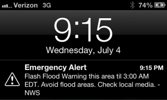 Emergency Alert iPhone Amber Alert