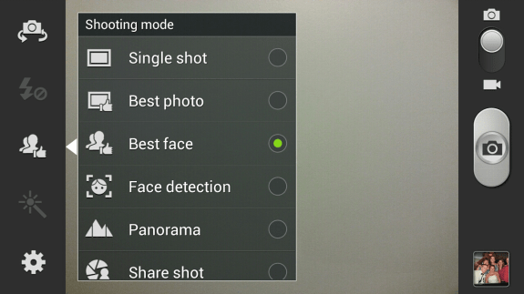 Galaxy Note 2 best face