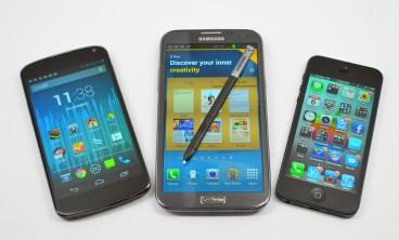 Galaxy Note 2 vs iPhone 5 vs Nexus 4 - 09