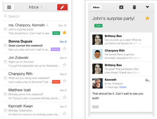 Gmail 2.0 for iPhone and iPad