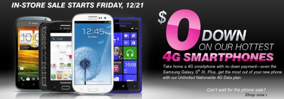 Nexus 4 Note 2 Galaxy S3 Deals at TMobile