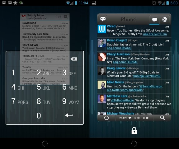 Nexus 4 Setup and Security Guide - Lock screen widget