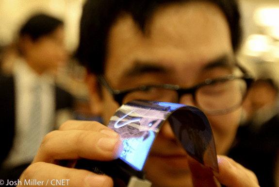 Samsung Flexible Smartphone display CES 2013