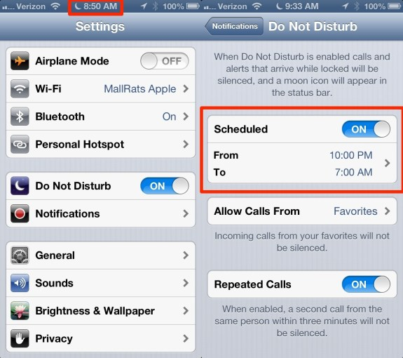 Do Not DIsturb Bug iOS 6 New Year 2013