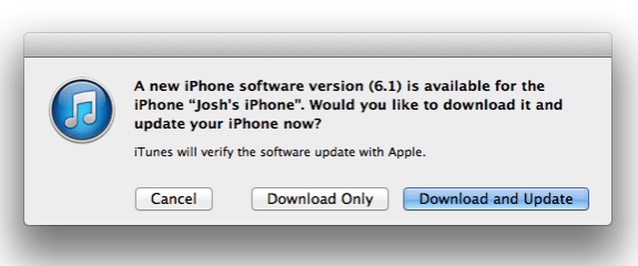 Download and Install iOS 6.1