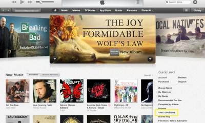 Send iTunes Gift