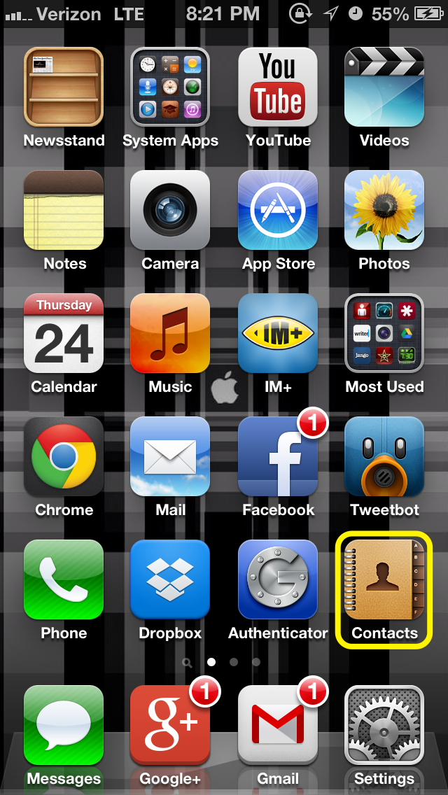 how to set iphone custom vibrate alerts for contacts. Black Bedroom Furniture Sets. Home Design Ideas