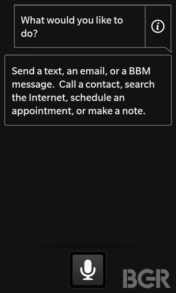 blackberry 10 voice control