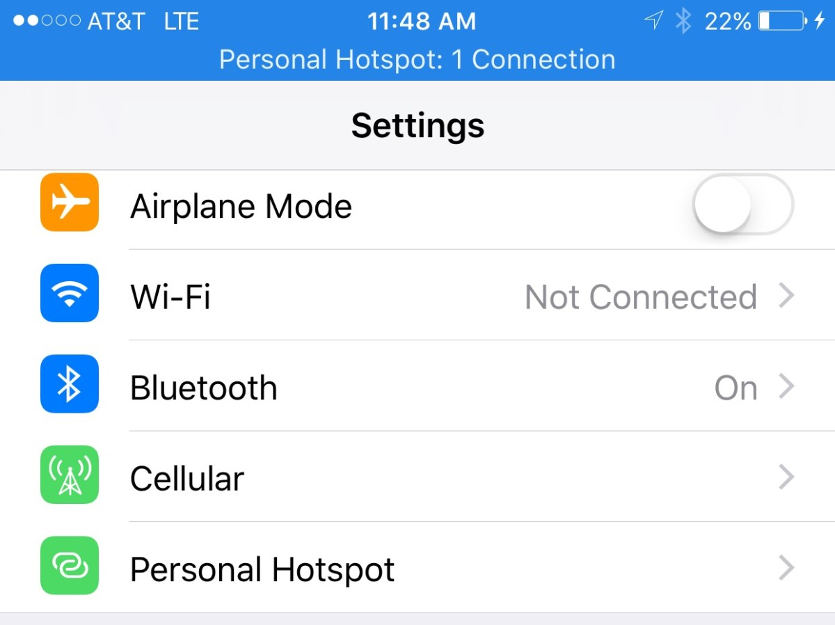 at t hotspot iphone how to use your iphone as a personal hotspot usb 10166
