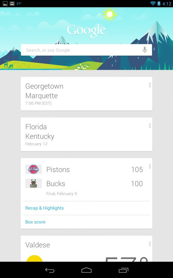 google now supports ncaa basketball