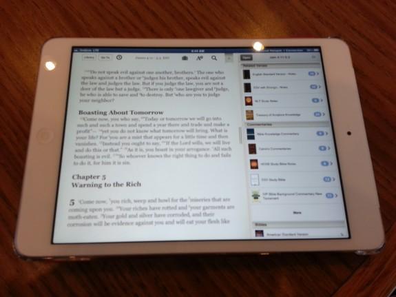 normal reading mode on iPad mini