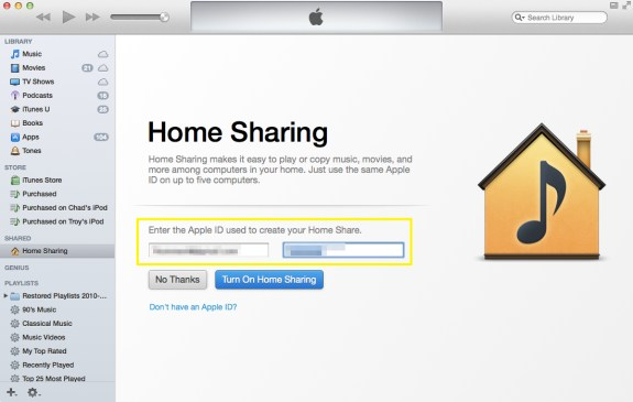 Enter Apple ID and Password (Mac)
