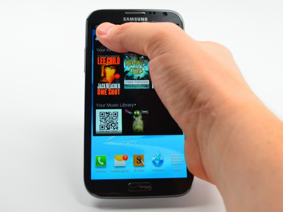 The Galaxy Note 2 can be tough to use with one hand.