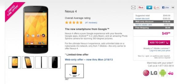 Nexus 4 deals