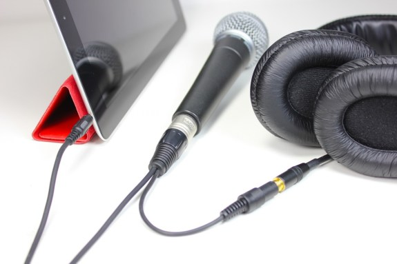 cablejive projive xlr with mic and ipad