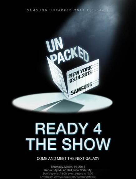 Samsung Galaxy S4 Launch Invite