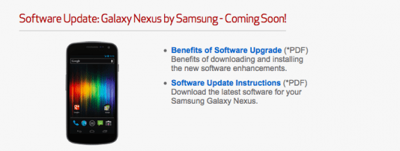The Verizon Galaxy Nexus Android 4.2 update could roll out soon.