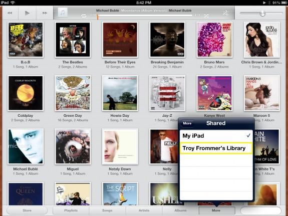 Select Library (iPad)