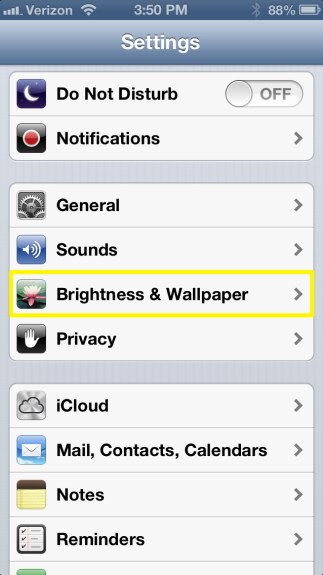Tap Brightness & Wallpaper