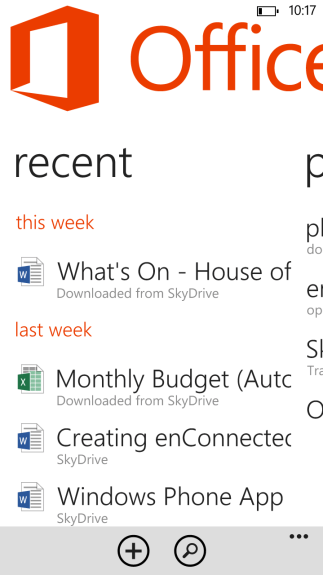 Windows Phone 8 includes a free copy of Office 2013