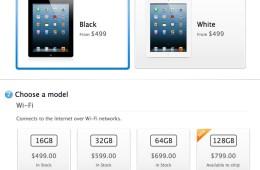 iPad 4 128GB on sale